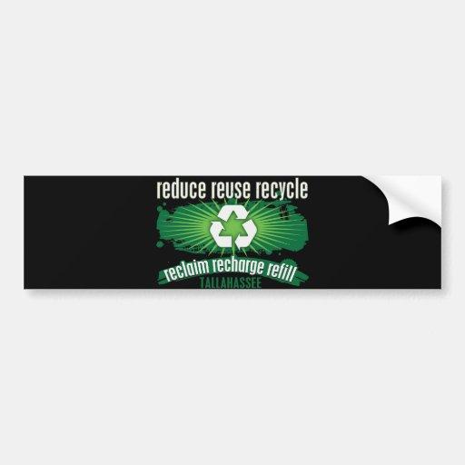 Recicle Tallahassee Pegatina Para Auto