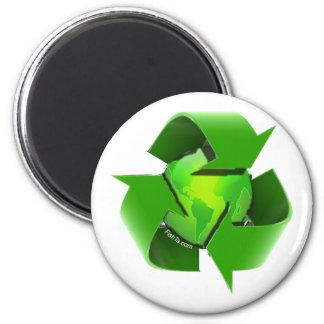 Recicle Tierra-Van Verde-Reserva la tierra Imán Redondo 5 Cm