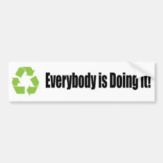 recicle todos lo está haciendo pegatina para el pa etiqueta de parachoque