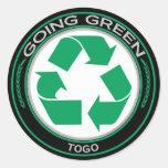 Recicle Togo Etiquetas Redondas