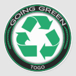 Recicle Togo Pegatina Redonda