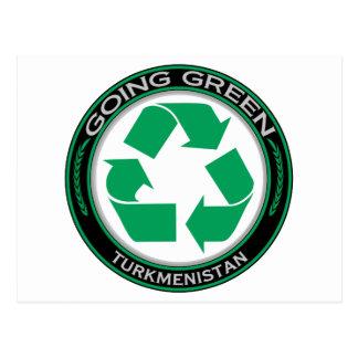 Recicle Turkmenistán Tarjetas Postales