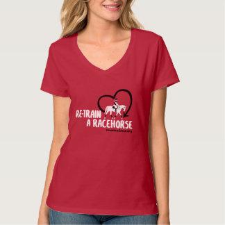 Recicle un caballo de carreras con el corazón remeras