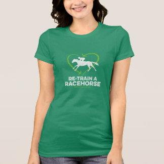 Recicle un caballo de carreras playera