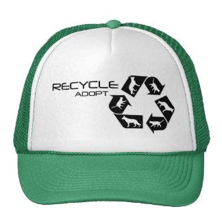 Recicle un gorra del mascota