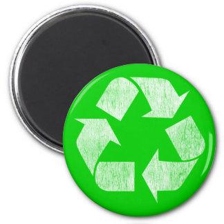 Recicle - va el verde imán redondo 5 cm