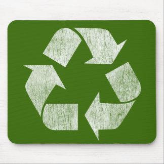 Recicle - va el verde alfombrillas de raton