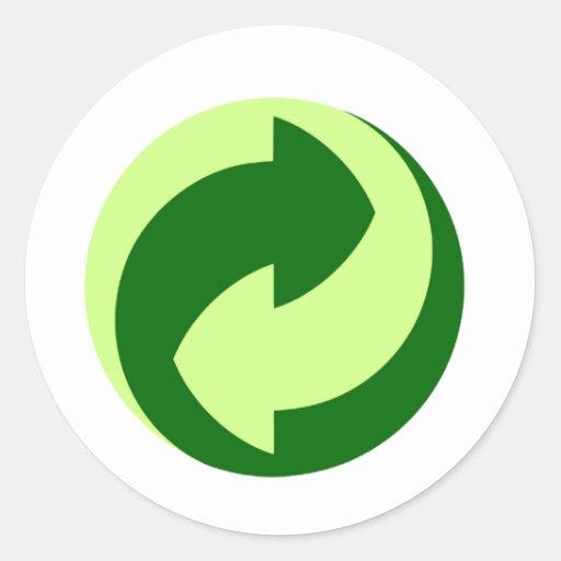 ¡Recicle y los productos y los diseños de la Pegatina Redonda