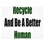 Recicle y sea un mejor ser humano invitacion personalizada