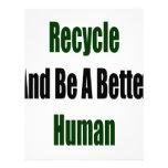 Recicle y sea un mejor ser humano membrete a diseño