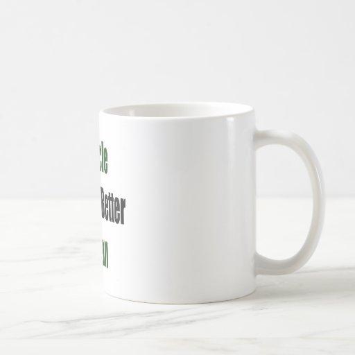 Recicle y sea un mejor ser humano tazas de café