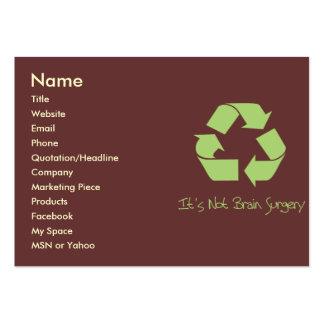 Recíclelo es tarjeta fácil del contacto o de visit tarjetas de visita grandes