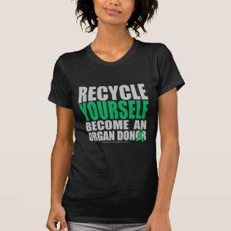 Recíclese donante de órganos camiseta