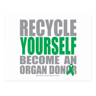 Recíclese donante de órganos postal