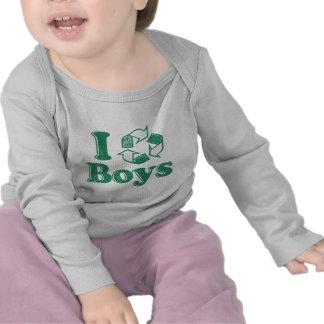 Reciclo a muchachos camisetas