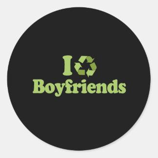 Reciclo la camiseta de los novios pegatinas redondas