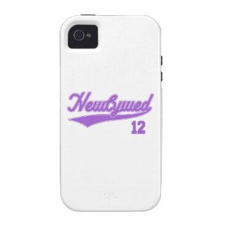 Recién casado 12 púrpura de la escritura del béis iPhone 4/4S carcasa