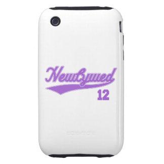 Recién casado 12 (púrpura de la escritura del iPhone 3 tough cobertura
