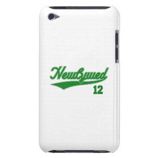 Recién casado 12 (verde de la escritura del béisbo iPod Case-Mate carcasa