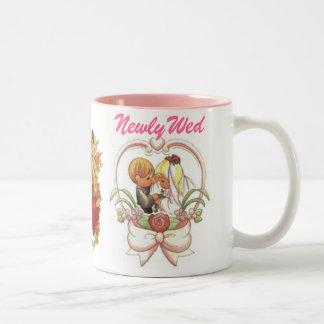 Recién casado (1), par precioso del boda taza de dos tonos