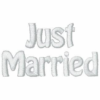 Recién casado apenas casado sudadera bordada con capucha