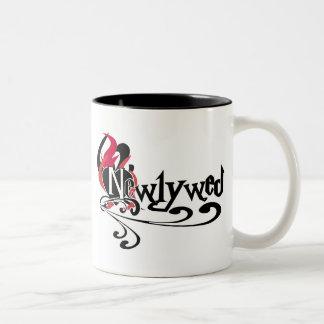 Recién casado gótico taza