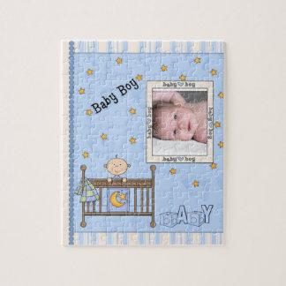 Recién nacido - bebé rompecabeza con fotos