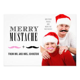Recienes casados de la tarjeta de la foto del bigo comunicado personal