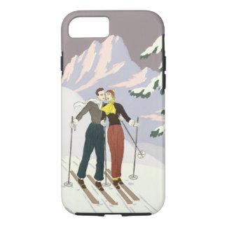 Recienes casados del esquí del amor y del romance funda iPhone 7