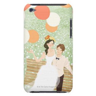 Recienes casados en una rama del jardín Case-Mate iPod touch fundas