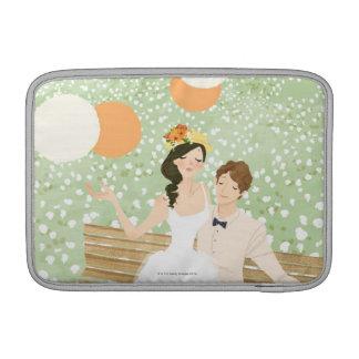 Recienes casados en una rama del jardín funda macbook air