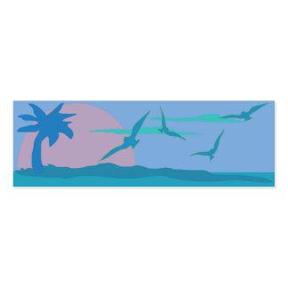 Recinto azul del Web site del tema del paraíso del Tarjetas De Visita Mini