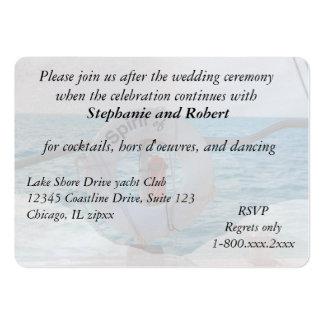 Recinto de la invitación de la recepción nupcial tarjetas de visita
