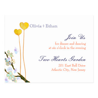 Recinto de la recepción nupcial de dos corazones ( tarjeta postal