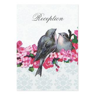Recinto de la recepción nupcial de los pájaros del plantillas de tarjetas personales