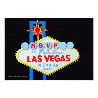Recinto de RSVP del fiesta del tema de Las Vegas Anuncio Personalizado