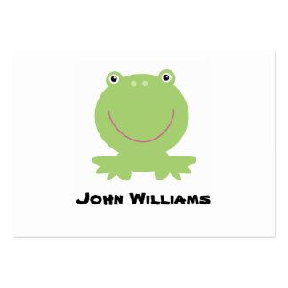 Recinto del regalo de la rana, etiqueta del regalo tarjetas de negocios