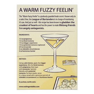 Recipe - A Warm Fuzzy Feelin' print