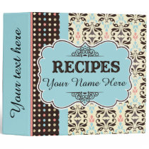 Recipe Binder and Organizer Personalized Monogram