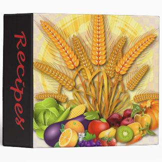 Recipe Binder Fruits & Veges Design - 4