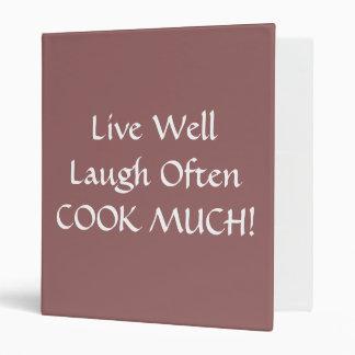 Recipe Binder Holder LIVE LAUGH LOVE COOK