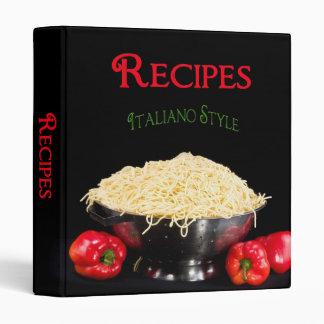 Recipe Binder - Italian Style