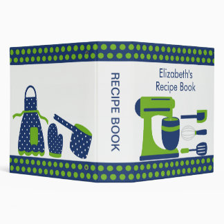 Recipe Binder Kitchen Accesories Green & Blue