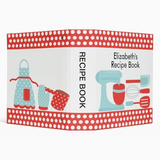 Recipe Binder Kitchen Accesories Orange & Blue