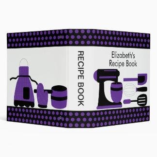 Recipe Binder Kitchen Accesories Purple & Black