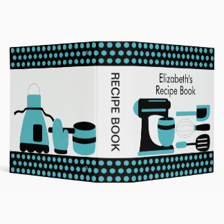 Recipe Binder Kitchen Accesories Turquoise & Black