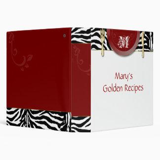 Recipe Binder Photo Album Red Zebra Cutlery