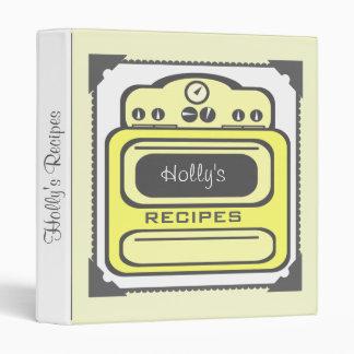 Recipe Binder - Retro Yellow Stove