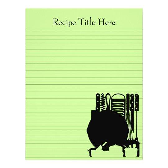 Recipe Binder Sheets 8.5x11 Customizable Both Side Flyer