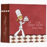 Recipe Binder With Illustration of a Baker Girl